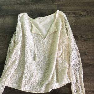 Hollister lace long sleeve blouse